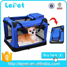 Breathable foldable portable light large pet carrier/cat carrier/collapsible pet carrier