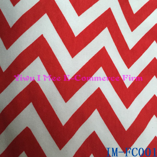 Red Chevron 32S 100% Cotton Fabric for Children Clothing IM-FC001