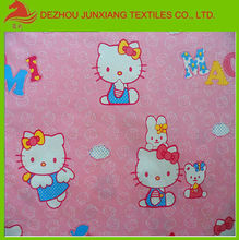 100% cotton fabric cartoon printed for children use