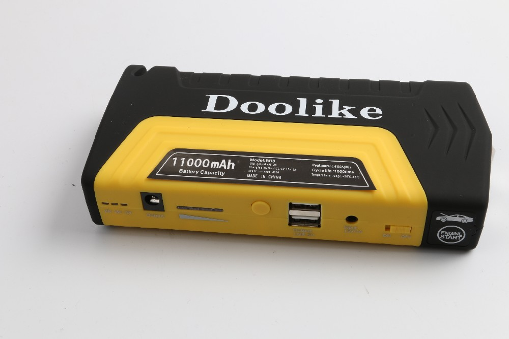 Doolike Portable Emergency Battery Pack  Peak Current Battery Charger Power Bank mini Car Jump Starter