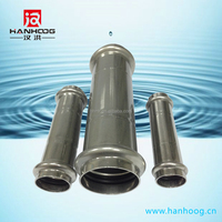 Iovesteel flexible exhaust pipe stainless steel slip coupling v profile
