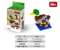 Loongon 2016 New Cheap Building Blocks toys Mini DIY Animal Blocks Mallard good for promotion 107PCS Toys for Kids Easy to Build