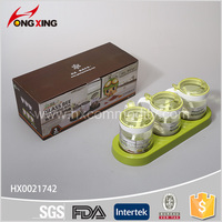 3Pcs New Design Plastic Seasoning Condiment
