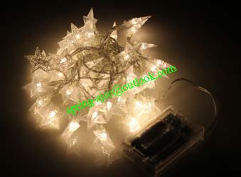 LED Star Pendant String Light Battery Opreated Five-Pointed Star Christmas Wedding Decoration Lights