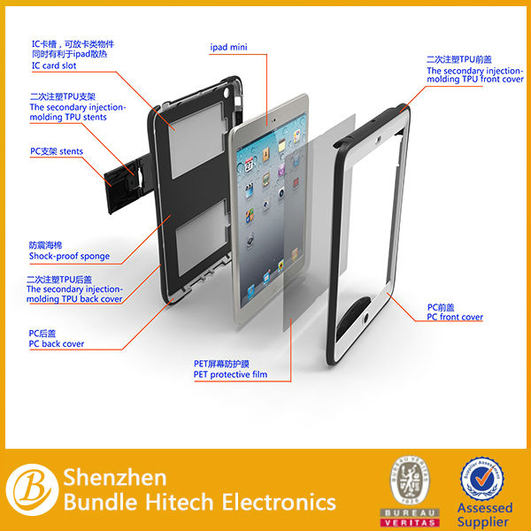 2013 hot selling!front and back cover case for ipad mini,manufacturer in shenzhen