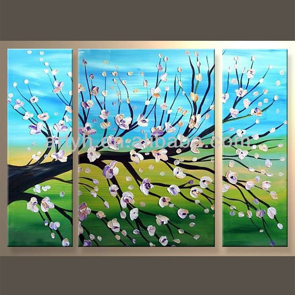 Hot Sell Handmade Decorative Landscape Oil Painting Texture