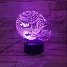 Hot NFL Team Animal Small Night Light Led 3D Illusion Lamp Customs 3D Lamp LED-hologramm Light