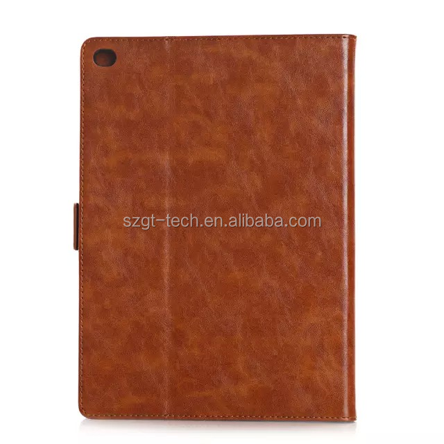Crazy Horse Pattern Oil Buffed Leather Style Cover Case with Card Slots for iPad Air 2