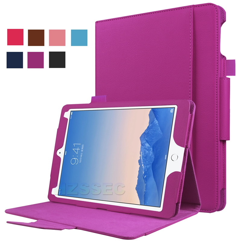 China Factory with Stylus Holder Auto Wake Sleep PU Leather Stand Case Smart Cover for Apple iPad Pro 9.7