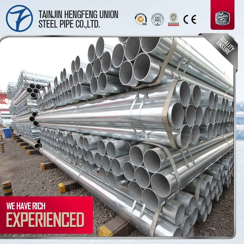 hot sale!!! safe building schedule 40 pre galvanized steel tubing made in china