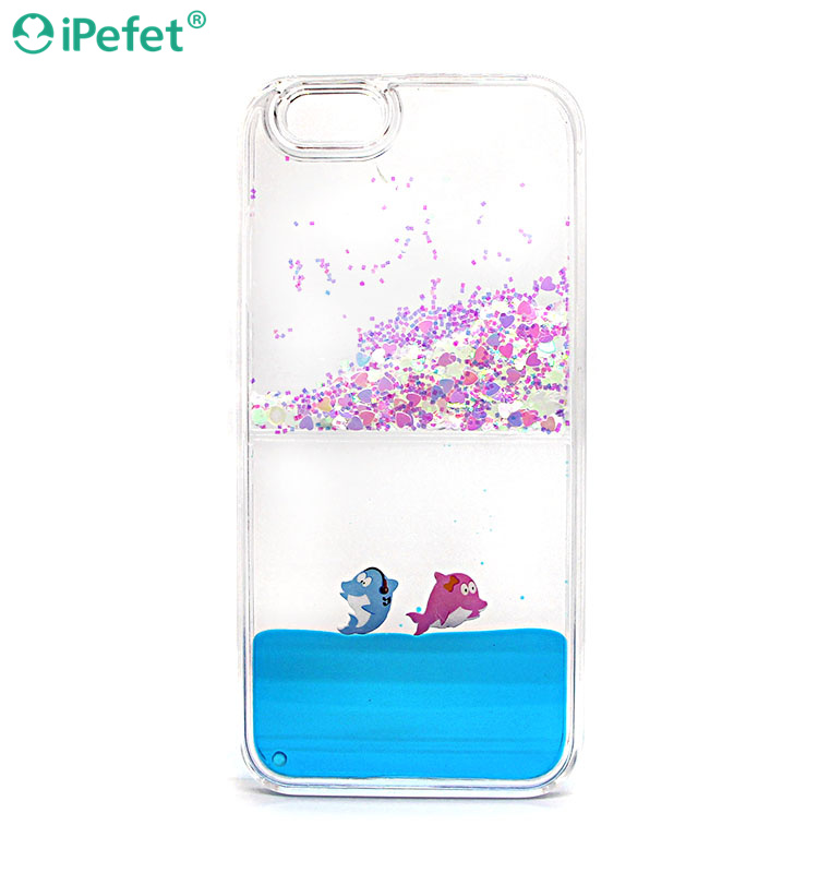 iPefet- Premium Bling Glitter Waterfall Liquid Phone case for iPhone for huawei