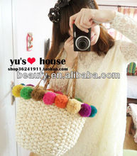 high quality ball of yarn maize straw bag 2013