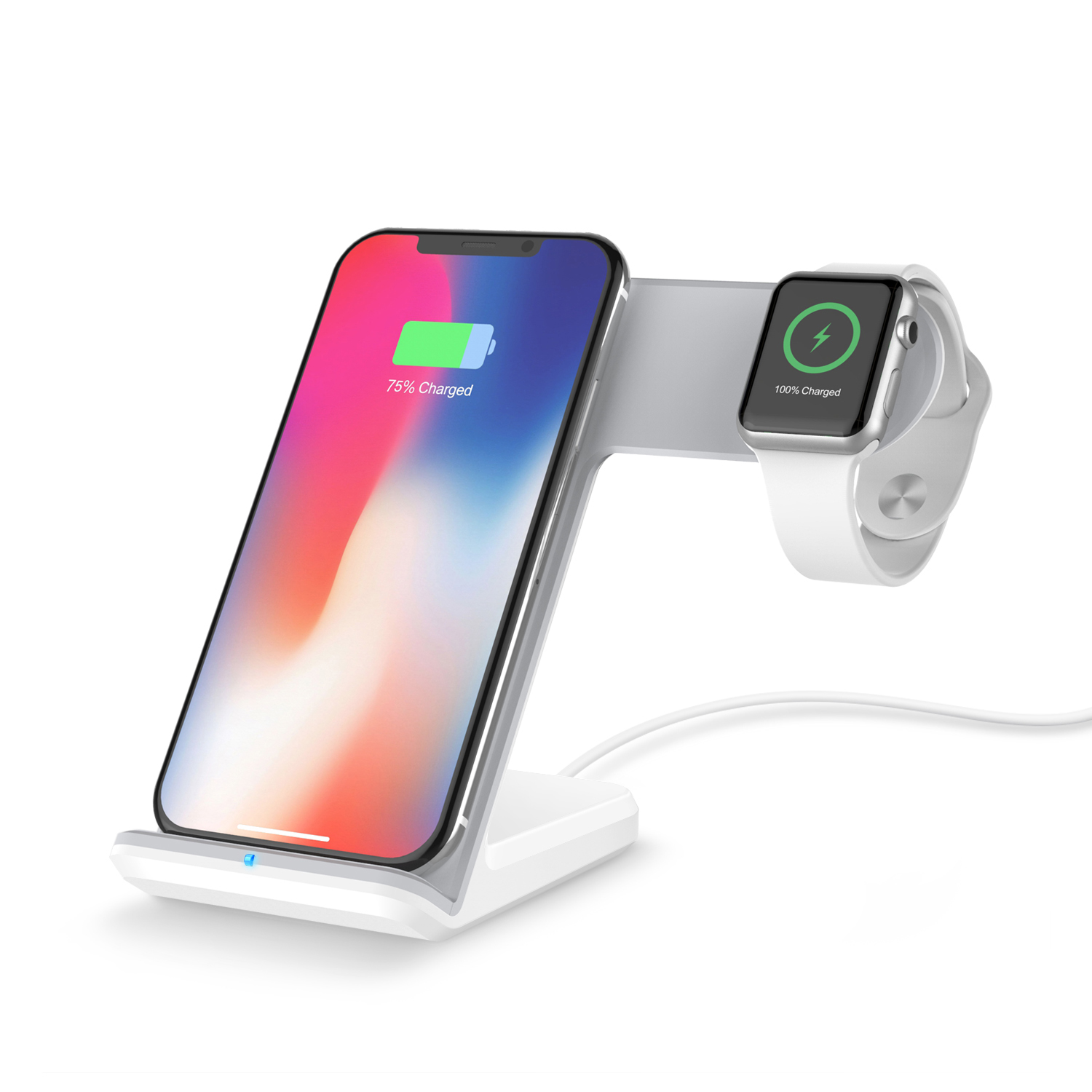 2019 new Qi Wireless Charger Charging Holder Pad Dock Stand <strong>2</strong> In <strong>1</strong> Fast for Apple Watch Series <strong>1</strong> <strong>2</strong> 3 4 iPhone <strong>X</strong> XS XS MAX XR