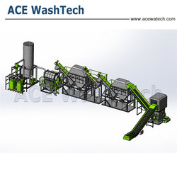 plastic recycling plant of PET washing machine / PET bottle recycling machine