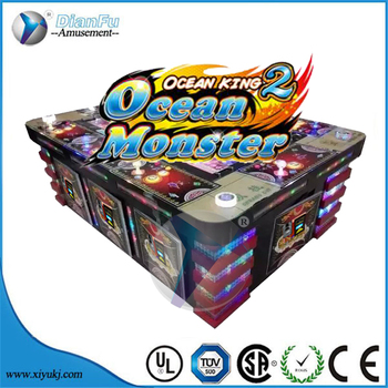 hot sell 2017 coin operated factory sale king of treasure plus /ocean monster fishing 30% percentage hold fishing machi