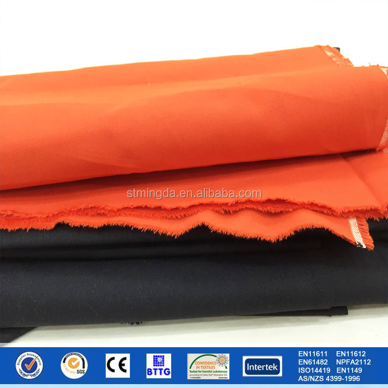 2017 non conductive heat resistant meta aramid overall military/fireproof and chemical resistant fabric antistatic fabric