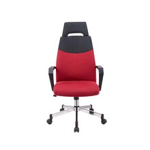 High back Office Chair in fabric cushion with headrest fixed PP armrests