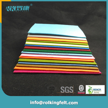 High quality craft non woven color fabric colorful polyester felt for hat