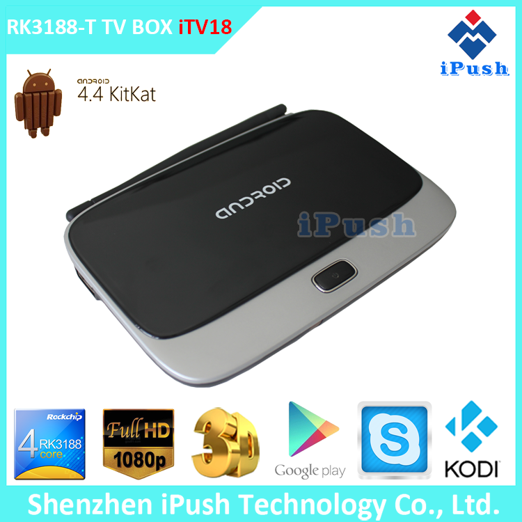 Full HD 1080P Video Smart Stream TV Box CS918 with Quad Core Google Android and 4.4 OS