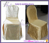 polyester jacquard damask chair covers, polyester damask chair covers for banquet chairs