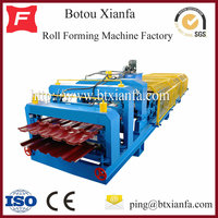 Roofing Standard Color Steel Glazed Tile And IBR Arc Cut Double Layer Tile Forming Machine