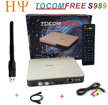 TOCOMFREE S989 +1PC WiFi Full HD Digital Satellite Receiver DVB-S2 Twin Tuner IKS + SKS+IPTV ACM H.265 For South America IPTV