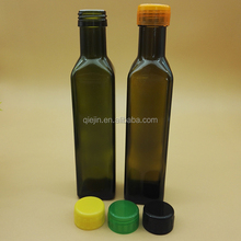 750ml wholesale glass liquor bottles 250ml glass olive oil bottle 500ml 1000ml Green Round Olive Oil Glass Bottle with Screw Top