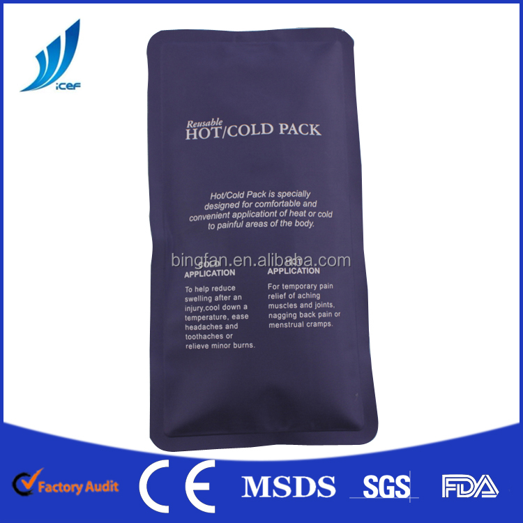 Nylon fabric hot cold pack for rehabilitation therapy/personal massager hot pack