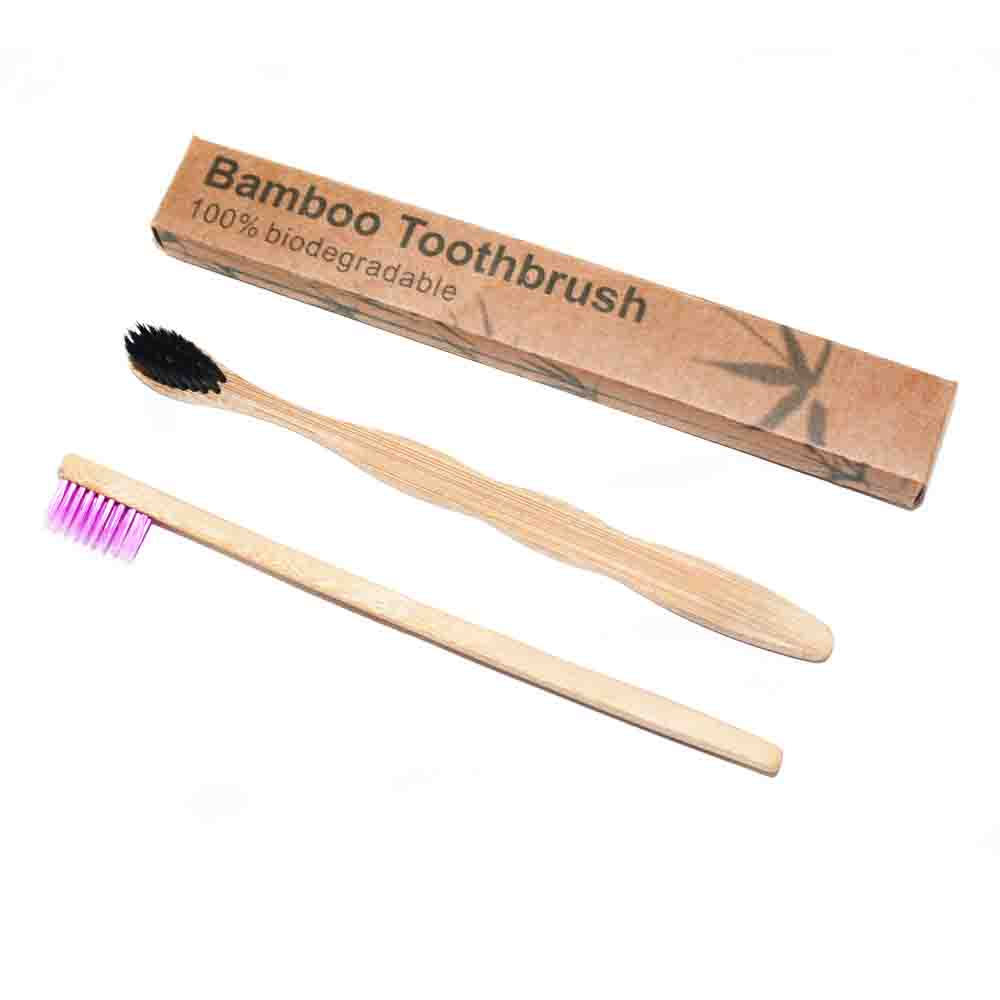 Biodegradable Toothbrush for Family Pack Of 4 <strong>bamboo</strong>