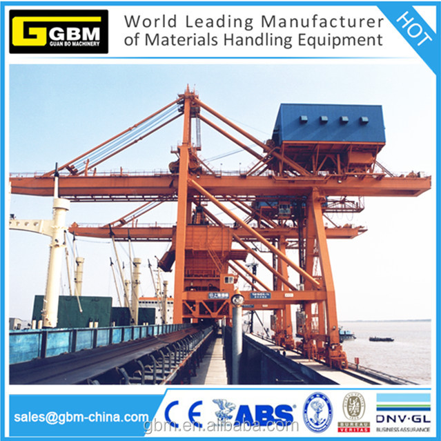 GBM 800t/h,1000t/h,1200t/h port grab ship unloader mobile crane for discharging grain, coal, fertilizer,grain,cement