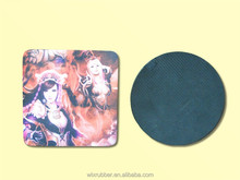 Promotional glass drink rubber base cup pad coaster