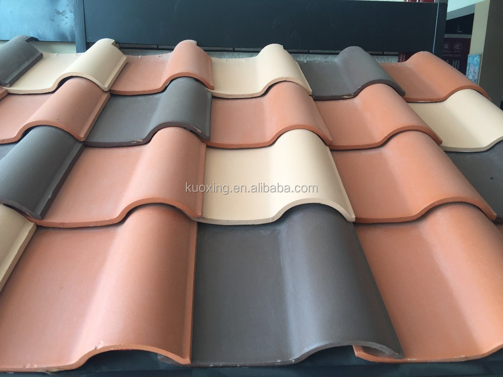 Natural color S type spanish porcelain roof tiles