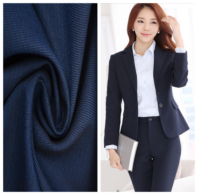 polyester viscose blend italian women and ladies suit fabric