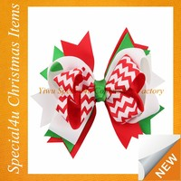 Hot sale wholesale Christmas hair bow ribbons and bows for children christmas hair accessories SYCI-027