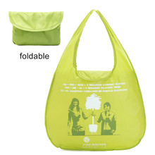 New Customized Promotional Cheap Polyester nylon resuable Folding Shopping Bags