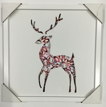Deer picture home goods wall hanging framed art canvas painting