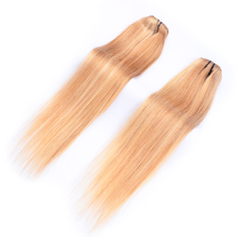 Wholesale No Tangle Russian Hair Weft Extensions Blonde Online Buy