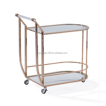 stainless steel gold color bar cart