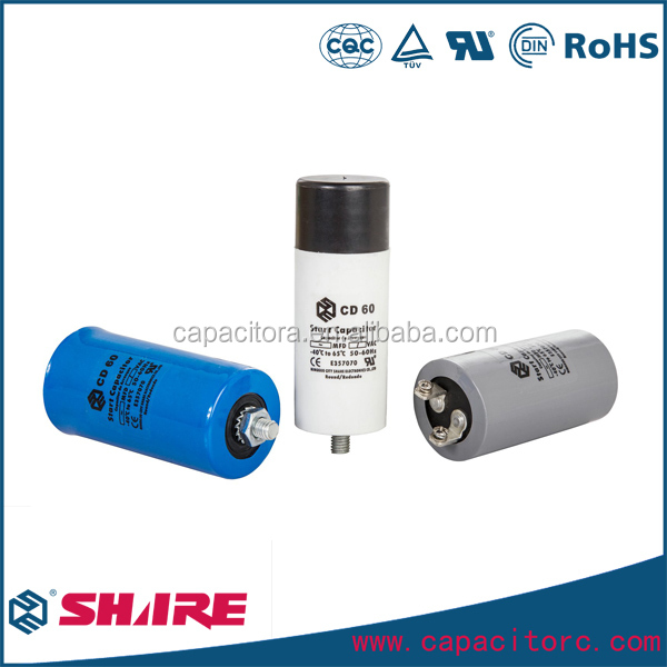 American Style Aluminum electrolytic Motor Start Capacitor CD60