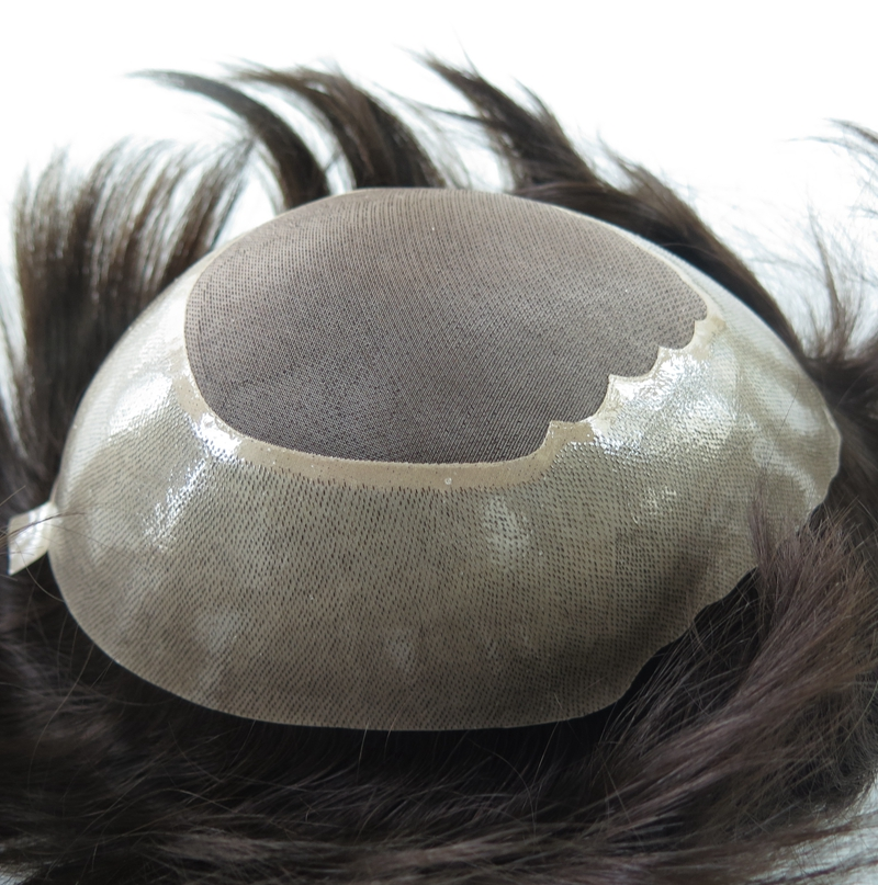 Good Quality Fine Mono Toupee Can Be Cut in Different <strong>Sizes</strong> in the Poly With Gauze Perimeter