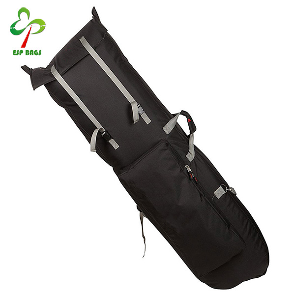 China supplier heavy duty backpack snowboard bag, high quality polyester ski bag, practical skimboard cover with front pocket
