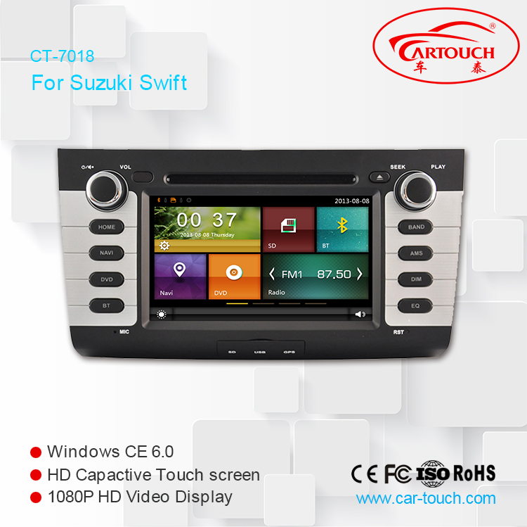 Radio, BT, DTV, 3G, Wifi, Touch Screen Double din car stereo, car dvd with GPS navigation for SUZUKI SWIFT 2004- 2010