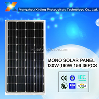 high efficiency PV Mono solar panel/solar module 140 w