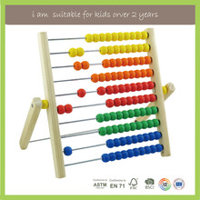 New Design EN71/FSC/BSCI/ASTM Wooden Toys of Abacus Counting Frame Beads Wooden