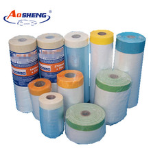 PE taped plastic drop masking film for car painting