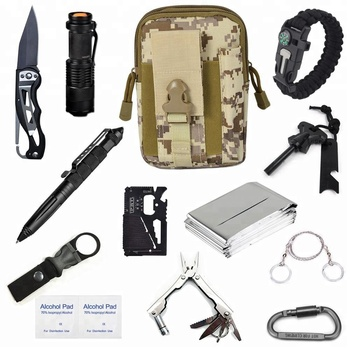 CYSHMILY Überleben Getriebe Kit 15 in 1, Professional Outdoor Notfall Überleben Tools Kit