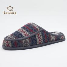 Popular Soft Mens Knitted Indoor Slipper with Good Quality