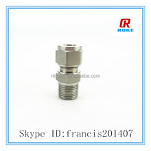 Dk-Lok style fractional tube connected and male npt thread o-seal pipe thread connector