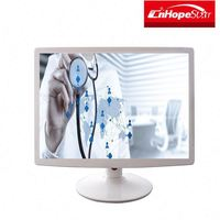 wall mount computer monitor 15/17/19 square screen medical white color led monitor
