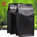 Custom wholesale stand up zipper pouch biodegradable aluminum foil coffee bean packaging bags with valve